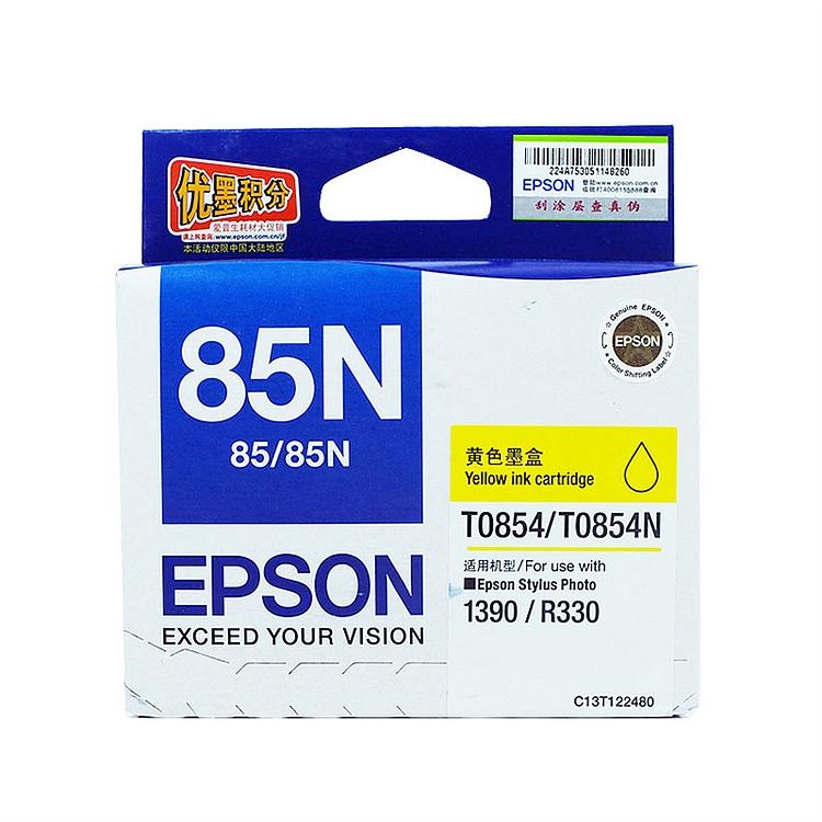 爱普生 T0854 原装墨盒 (单位:盒) 黄