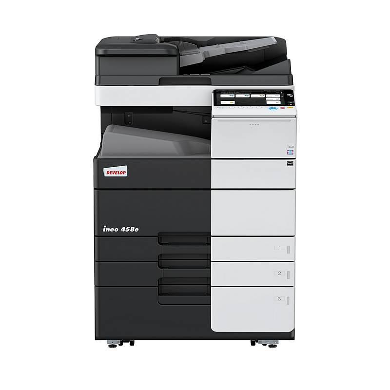 德凡(DEVELOP)ineo458e黑白复印机含双面同步输稿器、双纸盒、多功能手送托盘 (单位:台)