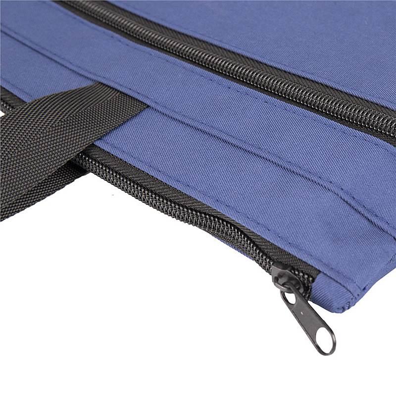 得力 5845 手提拉链袋 390x290cm (单位:个) 蓝色