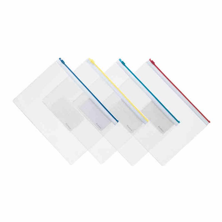 齐心F81超透明拉链袋A4,透明(个)