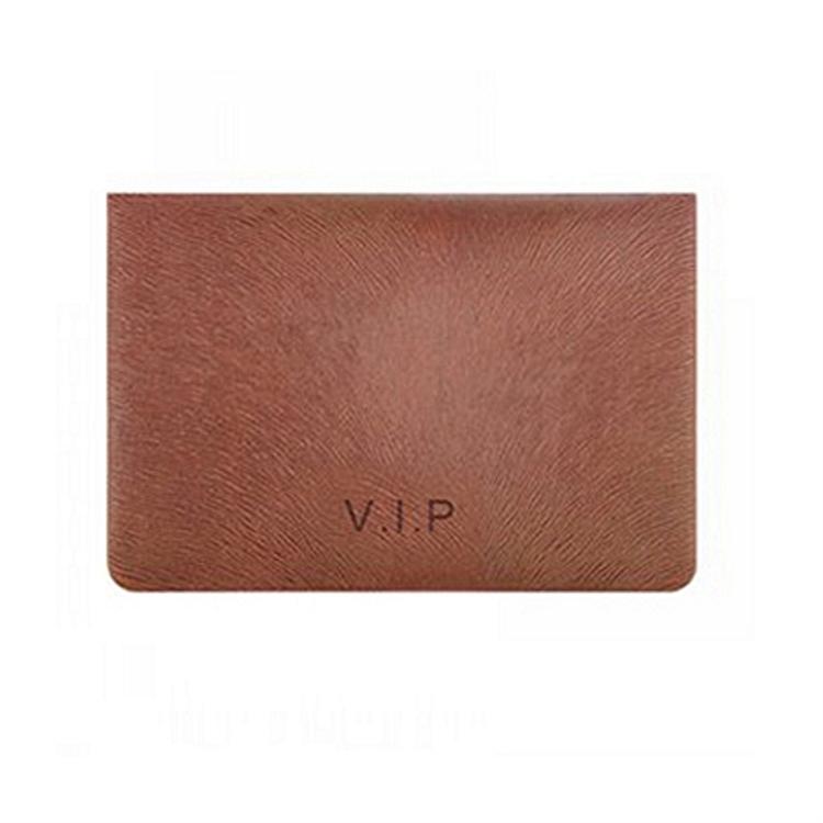 齐心A7879/VIP臻品便携式皮面名片夹盒装咖啡 名片册(本)
