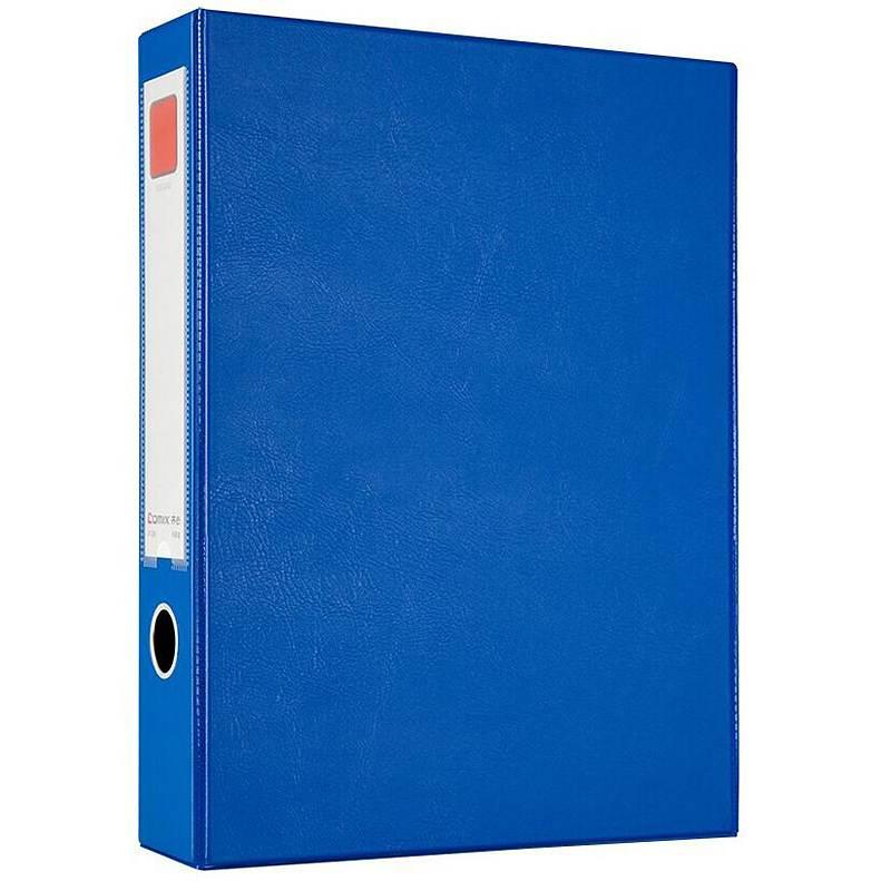 齐心A1236档案盒A4/55mm磁扣式带压纸夹蓝色14个/箱(单位:箱)