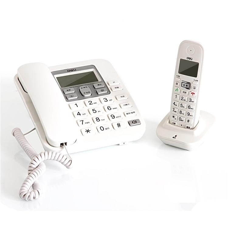 得力 791 数字无绳电话机 (单位:台) 白