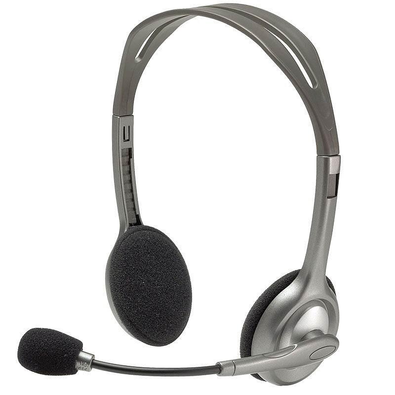 罗技 H110 头戴式耳机 (单位:个) 灰色