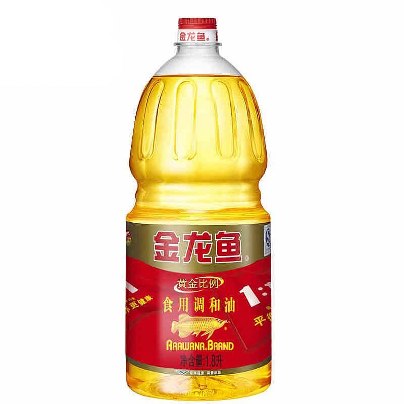 金龙鱼 1.8L黄金比例调和油6瓶/箱(单位:瓶)