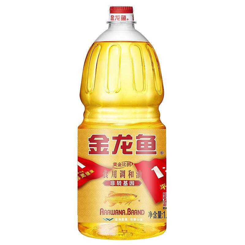 金龙鱼 1.8L非转基因黄金比例调和油6瓶/箱(非转基因)(单位:瓶)