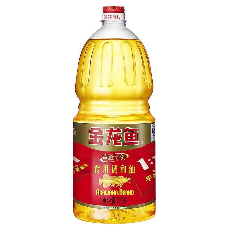 金龙鱼 2.5L黄金比例食用调和油,6瓶/箱(转基因)(单位:瓶)