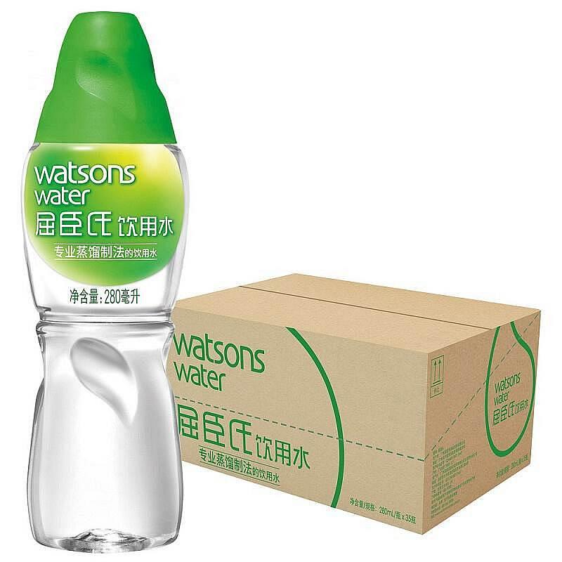 屈臣氏 蒸馏水280ML*35瓶/箱 (单位:箱)