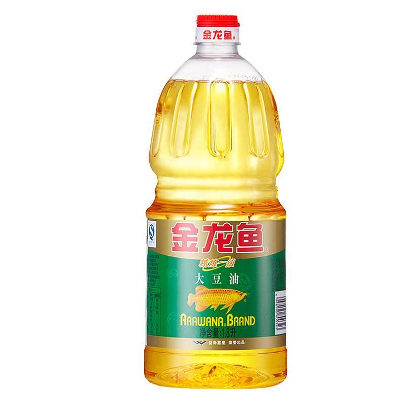金龙鱼 1.8L精练一级大豆油6瓶/箱(转基因)(单位:瓶)
