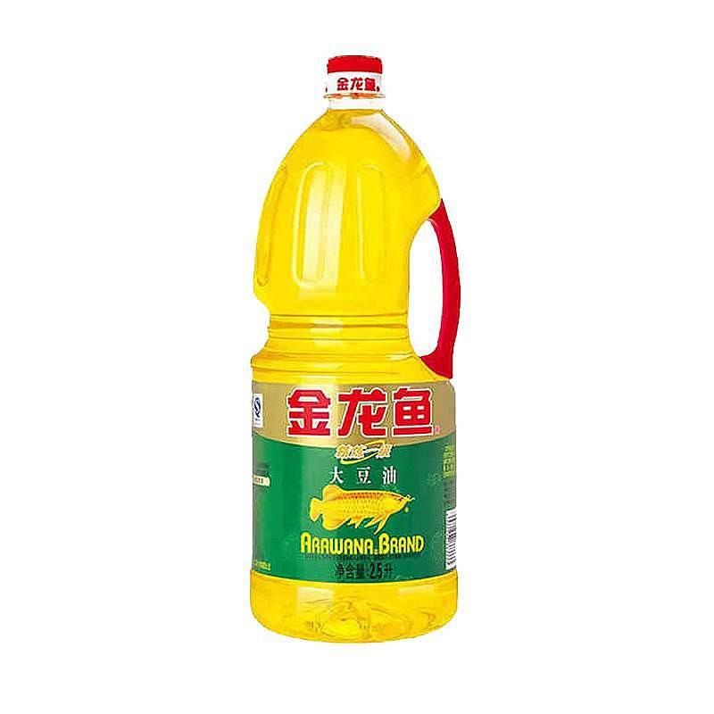 金龙鱼 2.5L精练一级大豆油6瓶/箱(转基因)(单位:瓶)