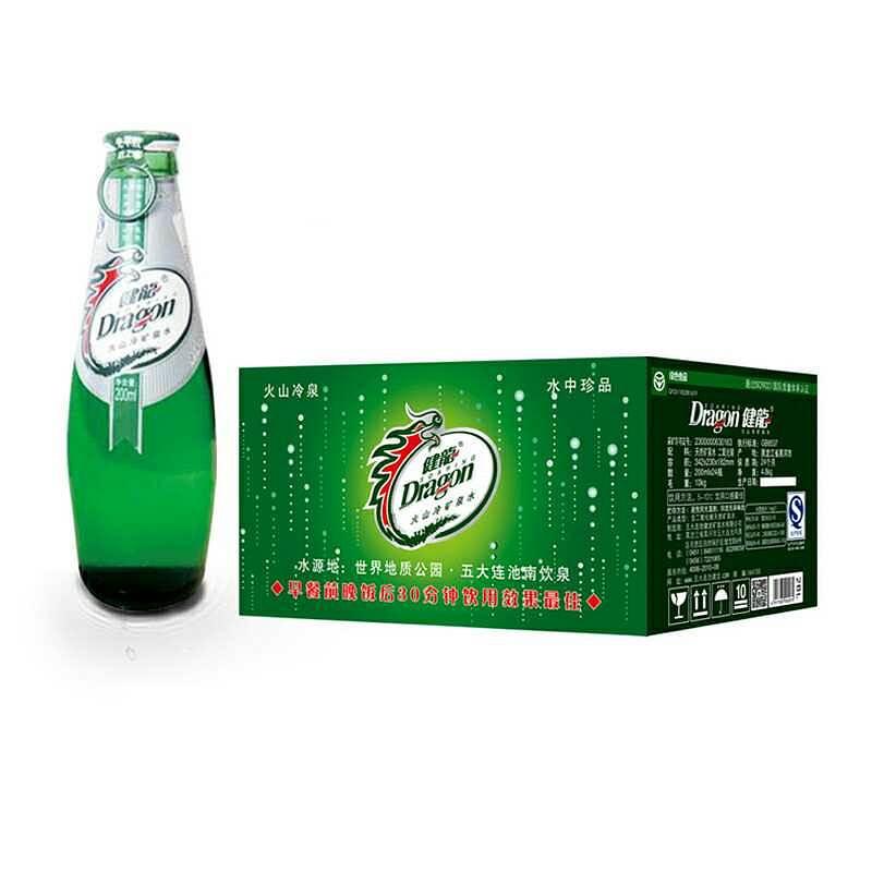 健龙 200ml矿泉水1*24瓶玻璃瓶拉盖(含气)(单位:箱)