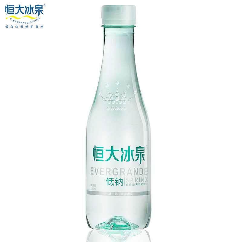 恒大冰泉 低钠水 24*350ml(单位:箱)