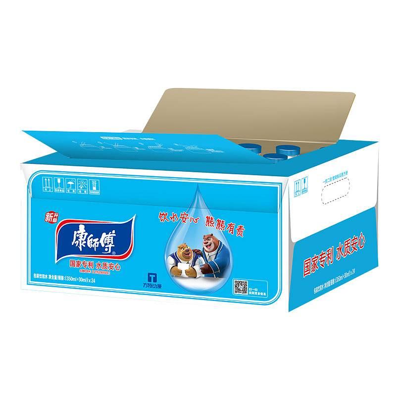 康师傅缩膜包装饮用水蓝色PET380ml*24(单位:箱)