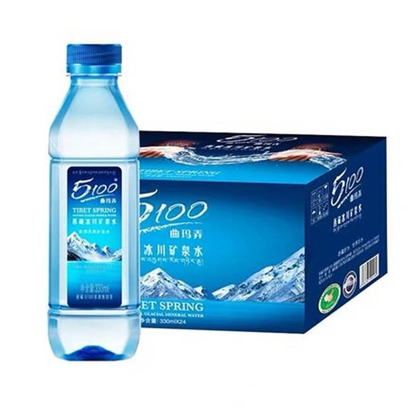 5100 西藏冰川饮用天然矿泉水330ml*24瓶(箱)