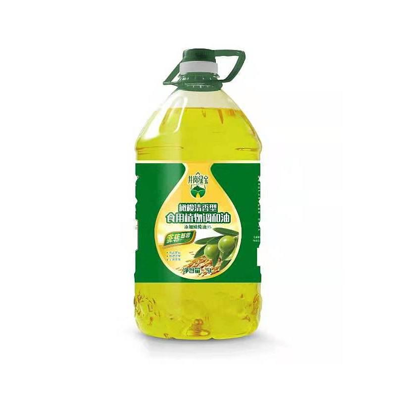 井岗绿宝橄榄清香型食用植物调和油5L(单位:瓶)